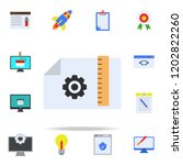 drawing settings colored icon.... | Shutterstock .eps vector #1202822260