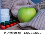 apple saver with drugs | Shutterstock . vector #1202823070