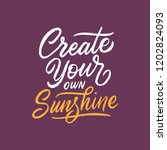 hand drawn typography poster... | Shutterstock .eps vector #1202824093
