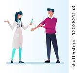 doctor woman nurse character...   Shutterstock .eps vector #1202824153