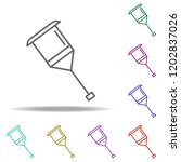 crutch line icon. elements of...   Shutterstock .eps vector #1202837026