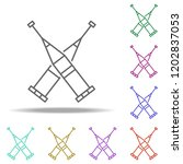 crutches line icon. elements of ...   Shutterstock .eps vector #1202837053