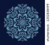 blue ornamental vector rosette  ... | Shutterstock .eps vector #1202838499