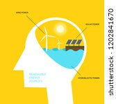 renewable energy and... | Shutterstock .eps vector #1202841670
