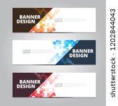 vector abstract design banner... | Shutterstock .eps vector #1202844043