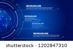 dot line connection and digital ... | Shutterstock .eps vector #1202847310