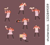 a chef character showing the... | Shutterstock .eps vector #1202849359