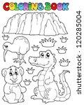 coloring book australian fauna... | Shutterstock .eps vector #120285004