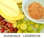 the fruit in the dish | Shutterstock . vector #1202850136
