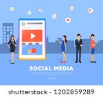lifestyle trend and social... | Shutterstock .eps vector #1202859289