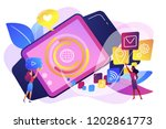 smartwatch with applications... | Shutterstock .eps vector #1202861773