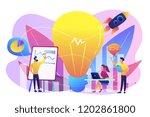 business team brainstorm ... | Shutterstock .eps vector #1202861800