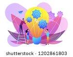 huge lightbulb and business... | Shutterstock .eps vector #1202861803