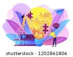 business team brainstorm ... | Shutterstock .eps vector #1202861806