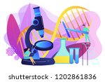 microscope and scientists... | Shutterstock .eps vector #1202861836