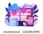 programmers develop program for ... | Shutterstock .eps vector #1202861890