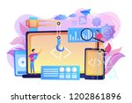 engineer and developer with... | Shutterstock .eps vector #1202861896