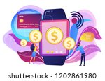 users shopping and making... | Shutterstock .eps vector #1202861980