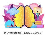 patient with thought bubble and ... | Shutterstock .eps vector #1202861983