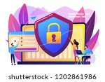 security analysts protect... | Shutterstock .eps vector #1202861986