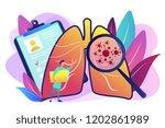 huge magnifier showing cancer... | Shutterstock .eps vector #1202861989