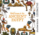 welcome to ancient egypt travel ... | Shutterstock .eps vector #1202862763