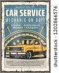 car service retro poster.... | Shutterstock .eps vector #1202866576