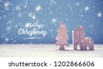 merry christmas with christmas... | Shutterstock . vector #1202866606