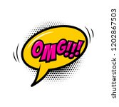 omg    comic style phrase with... | Shutterstock .eps vector #1202867503