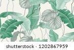 tropical forest seamless... | Shutterstock .eps vector #1202867959