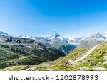 beautiful mountain landscape... | Shutterstock . vector #1202878993