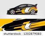car decal wrap design vector.... | Shutterstock .eps vector #1202879083