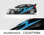 car decal wrap design vector.... | Shutterstock .eps vector #1202879086