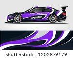 car decal wrap design vector.... | Shutterstock .eps vector #1202879179