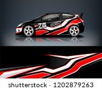 car decal wrap design vector.... | Shutterstock .eps vector #1202879263