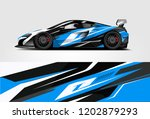 car decal wrap design vector.... | Shutterstock .eps vector #1202879293