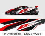 car decal wrap design vector.... | Shutterstock .eps vector #1202879296
