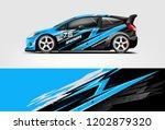 car decal wrap design vector....   Shutterstock .eps vector #1202879320