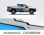 truck wrap design. wrap ... | Shutterstock .eps vector #1202880046