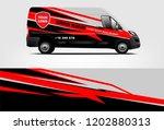 van wrap design. wrap  sticker... | Shutterstock .eps vector #1202880313