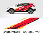 Stock vector suv wrap design wrap sticker and decal design for company vector format 1202880790