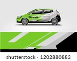 car wrap design. wrap  sticker... | Shutterstock .eps vector #1202880883