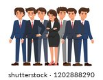 woman standing among... | Shutterstock .eps vector #1202888290