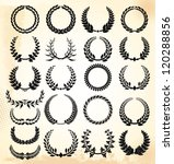 laurel wreath   set | Shutterstock .eps vector #120288856