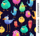 angry birds pattern. game... | Shutterstock .eps vector #1202890099