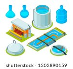water cleaning. watering... | Shutterstock .eps vector #1202890159