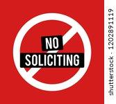 no soliciting vector... | Shutterstock .eps vector #1202891119