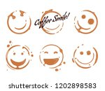 collection of coffee cup round... | Shutterstock .eps vector #1202898583