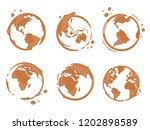 collection of coffee cup round... | Shutterstock .eps vector #1202898589
