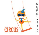 illustration of a girl circus... | Shutterstock .eps vector #1202900953